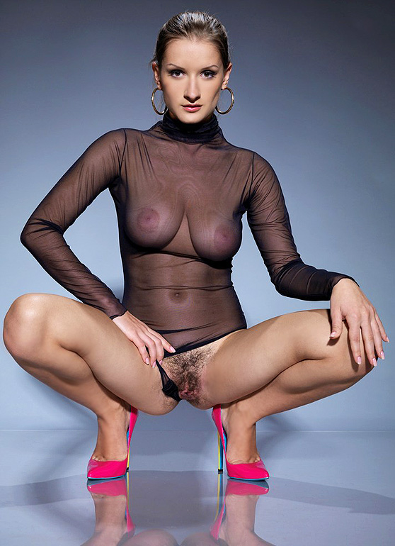 Alina H: Voxia, by Leonardo, unshaven, big breasts, stiletto heel erotica