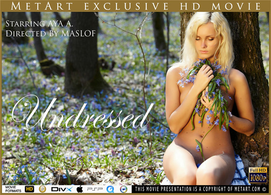 Undressed, starring Aya A., a MetArt HD movie directed by Dmitry Maslof