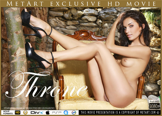 Olga M: Throne, by Leonardo, MetArt HD erotic movie review