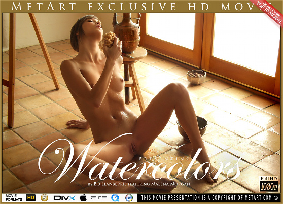 Malena Morgan: Watercolors, by Bo Llanberris, MetArt HD erotic movie review