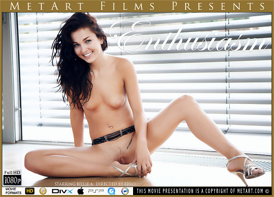Billie A: Enthusiasm, by Erro, MetArt HD erotic movie review