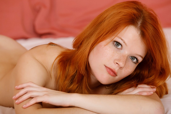 Mia Sollis: Tangere, by Luca Helios, fetching freckled redhead revealed