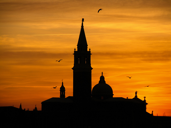 Venice, church at sunset, by DeltaGamma