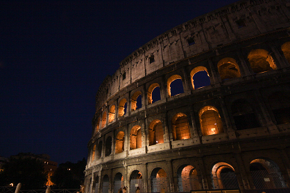 Rome, Colosseum at night, by DeltaGamma